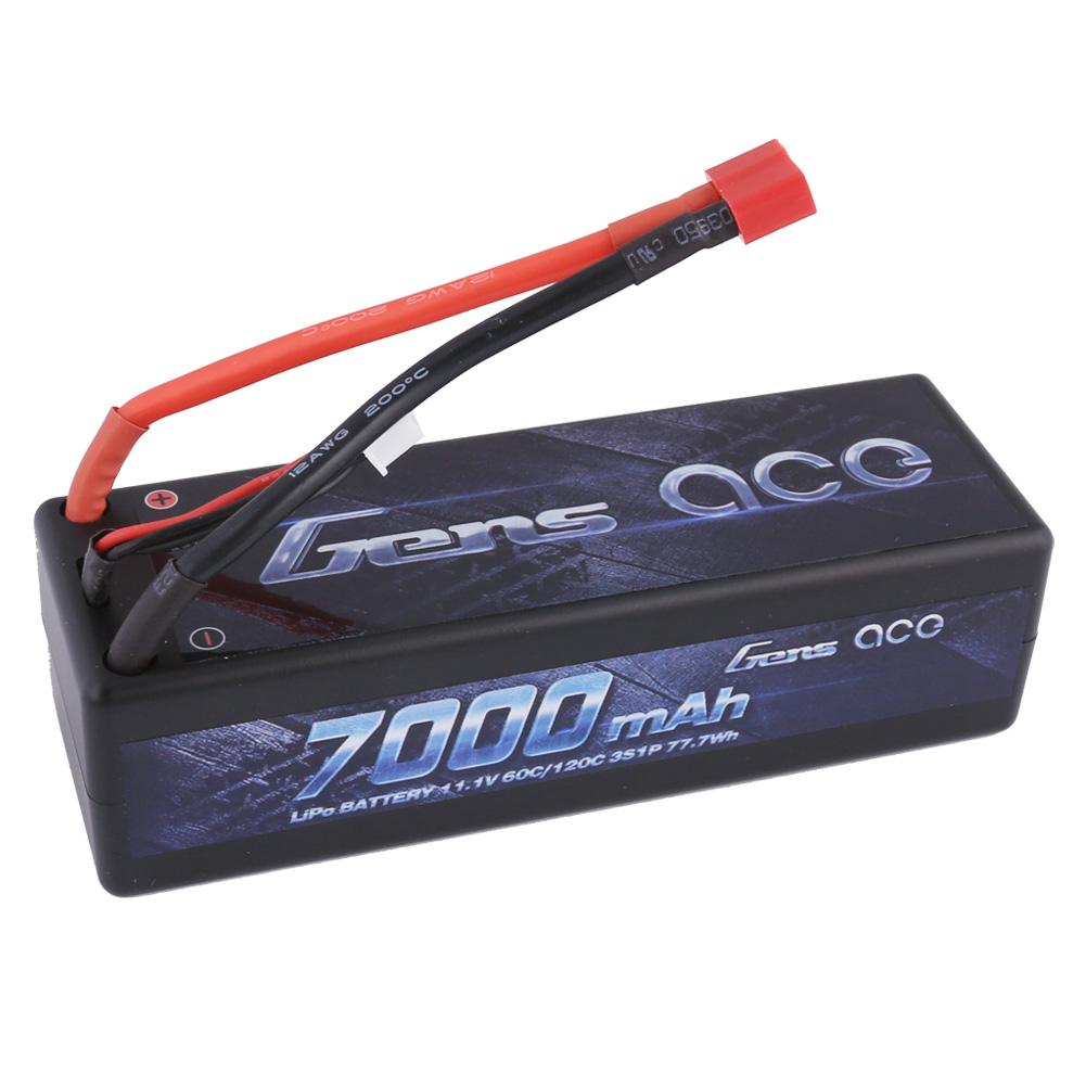 Gens Ace - 177 - 7000mAh 3S1P 11.1V 60C LiPo Deans Plug Hard Case 138x47x38mm