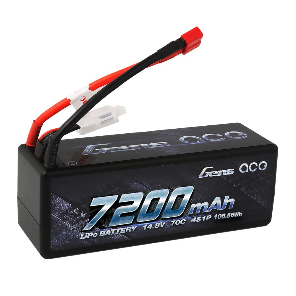 Gens Ace - 170 - 7200mAh 4S1P 14.8V 70C LiPo Deans Plug Hard Case 138x47x50mm