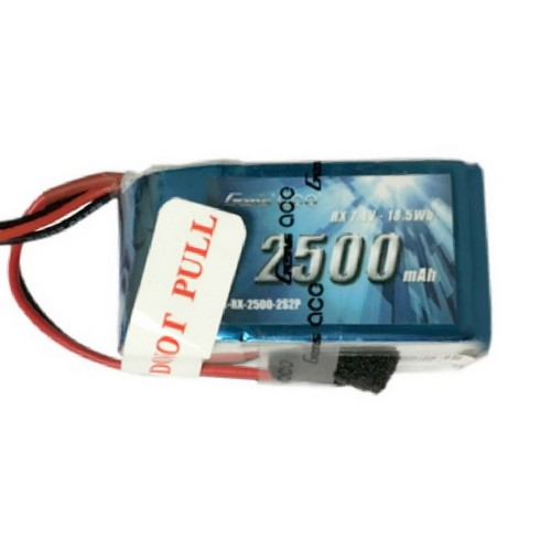 Gens Ace - 367 - RX 2500mAh 2S2P 7.4V LiPo JR-3P Plug Soft Case 57x30x30.3mm