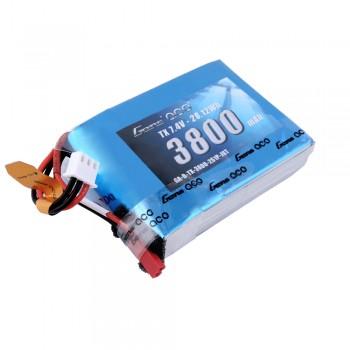 Gens Ace - 415 - 3800mAh 2S1P 7.4V LiPo JST-SYP Plug Soft Case TX Pack for QX7 70x52x19mm