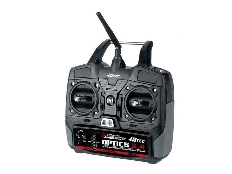 Hitec OPTIC 5 2.4GHz Transmitter, MINIMA 6 Receiver