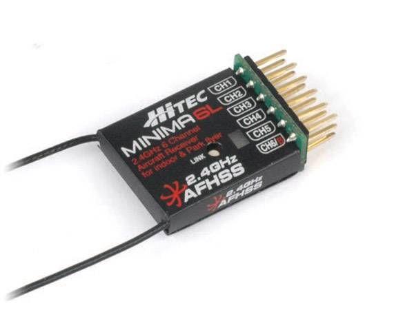 Hitec MINIMA 6L- MINIMA 6E Lite 6 Channel 4 Gram micro Rx with 80% range of fullsize MINIMA