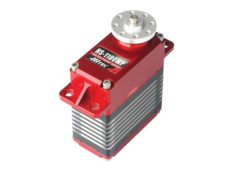 Hitec HS-1100WP Waterproof, Ultra-Heavy Duty, Full Metal Case, Steel Gear Dual BB Servo (1528oz/in | 0.19sec | 2.52 x 1.30 x 2.87