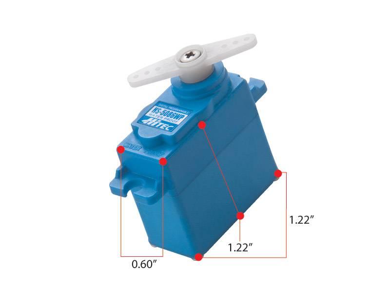 Hitec HS-5086WP Waterproof, High Voltage, Digital, Metal Gear, Top BB Servo (44.4oz/in | 0.15sec | 1.22 x 0.60 x 1.22