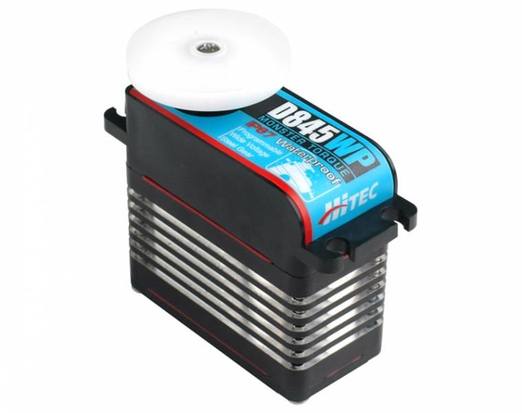 Hitec D-845WP Ultra Torque Steel Gear Waterproof Mega Servo (562oz-in|0.21sec@6.0V 694oz-in|0.17sec@7.4V|2.60 x 1.26 x 2.44