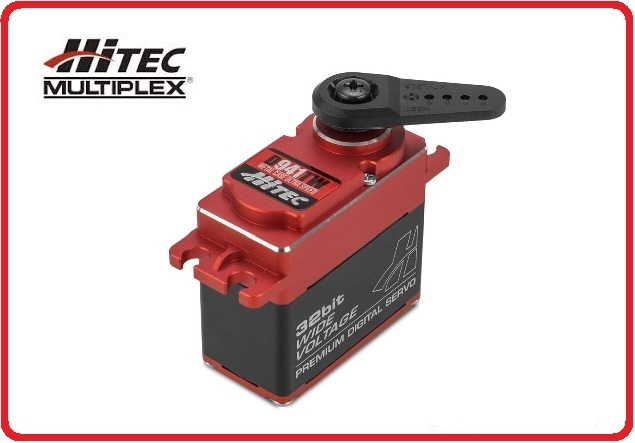 Hitec D-941TW 32-Bit, Metal Case, High Speed, Titanium Gear Servo 187oz-in 0.08sec@6.0V