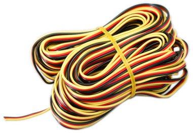 Hitec 3 color Heavy Gage Servo Wire 50 feet