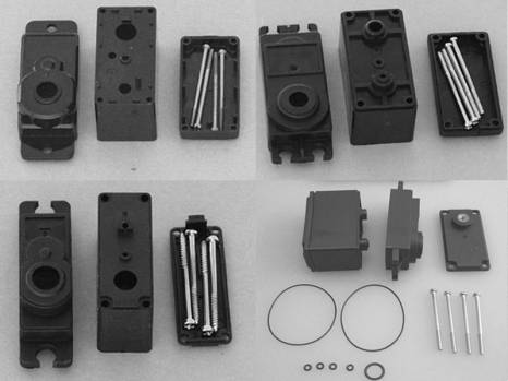 Hitec 645 Servo Case Set