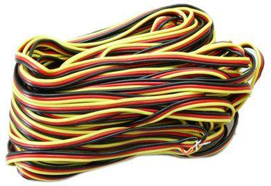 Hitec 50 ft., 3 Color Servo Wire, 22 Gauge, 30 Strand