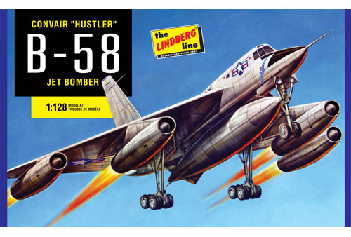 Lindberg B-58 Hustler Bomber 1/128 Model Kit (Level 2)