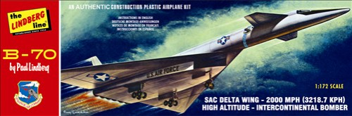 Lindberg B-70 Bomber 1/172 Model Kit (Level 2)