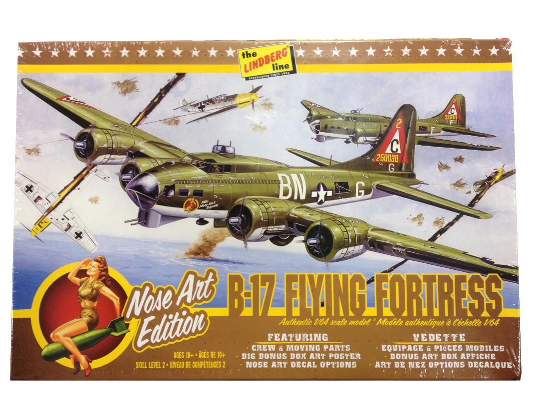 Lindberg B-17G Flying Fortress Nose Art Edition 1/64 Model Kit