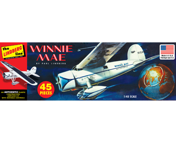 Lindberg Winnie Mae Airplane 1/48 Model Kit (Level 2)