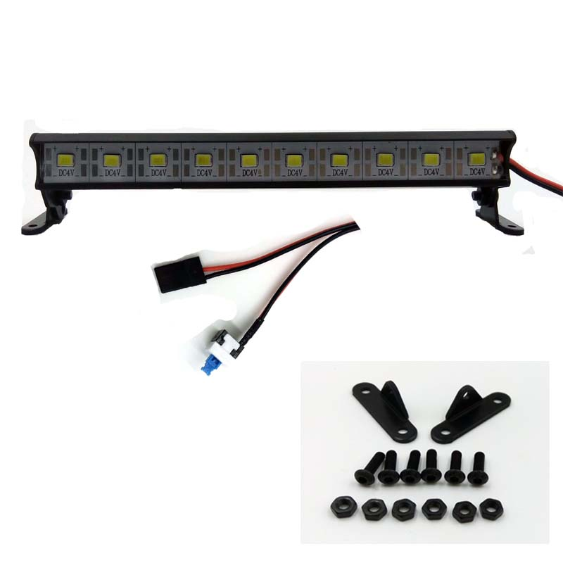 1/10 Aluminum Light Bar - 10 LEDs - Black
