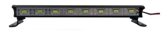 1/10 Aluminum Light Bar - 8 LEDs - Black