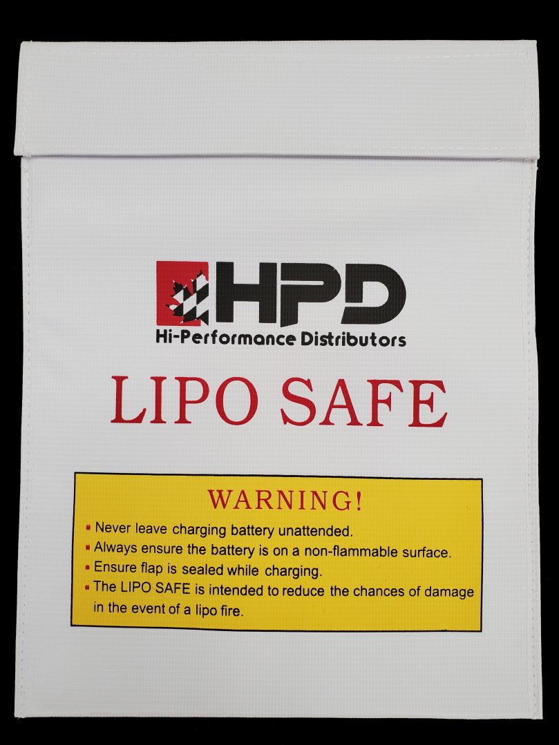 LiPo Safe Bag Hi-Performance Distributors 23x30cm