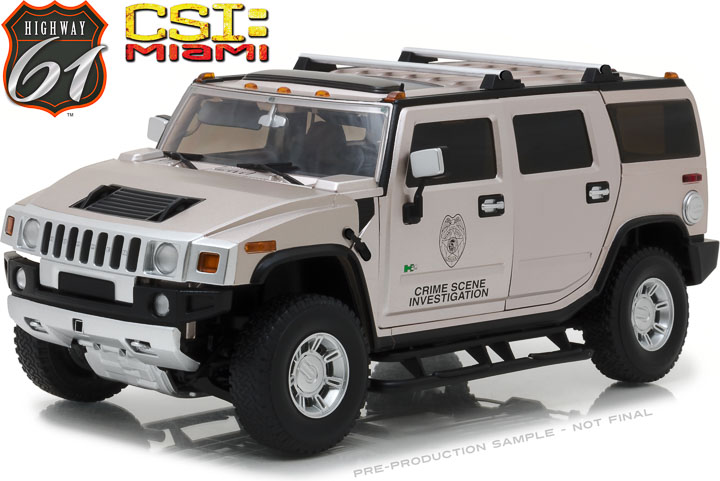 Highway 61 1/18 CSI Miami (2002-12 TV Series) - 2003 Hummer H2
