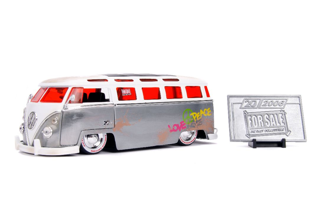 "Jada 1/24 ""For Sale"" 1962 VW Bus - 20th Anniversary"
