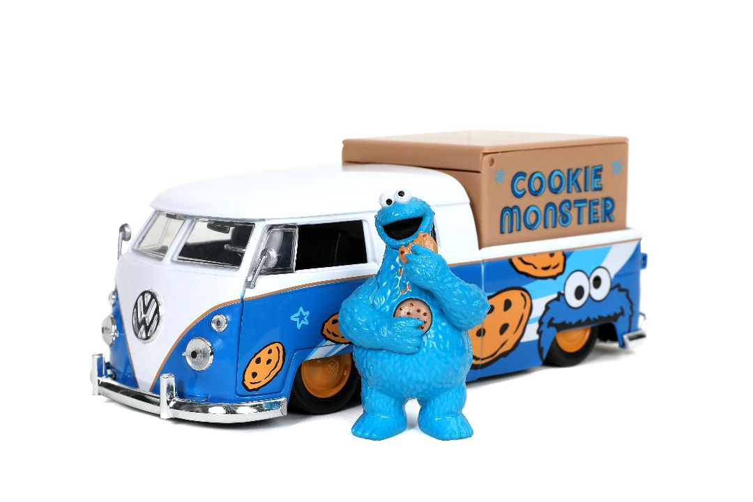 "Jada 1/24 ""Hollywood Rides"" 1963 VW Bus & Cookie Monster w/ Soun"