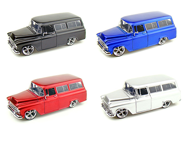 "Jada 1/24 ""BIGTIME Kustoms"" 1957 Chevy Suburban - Candy Silver"