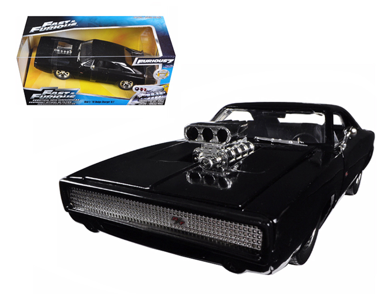 "Jada 1/24 ""Fast & Furious"" 1970 Dodge Charger R/T - Glossy Black"
