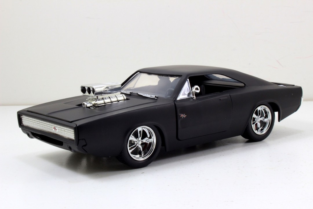 "Jada 1/24 ""Fast & Furious"" 1970 Dodge Charger - Matte Black Ed."