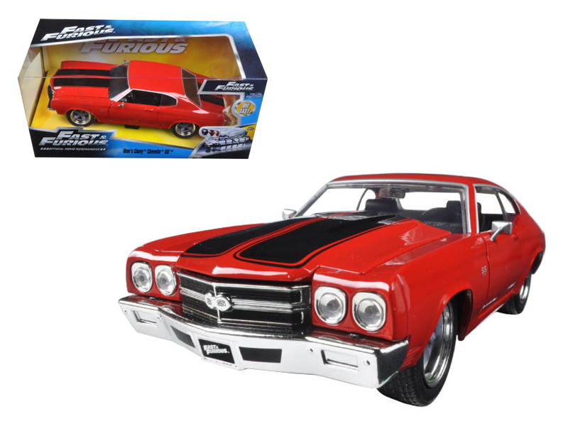 "Jada 1/24 ""Fast & Furious"" Dom's Chevy Chevelle SS Red w/ Black"