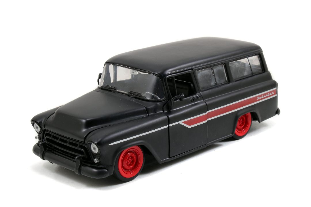 """Just Trucks"" 1/24 1957 Chevy Suburban - Primer Black"