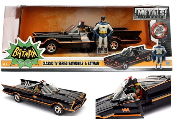"Jada 1/24 ""Batman Classic TV Series"" Batmobile w/ Batman & Robin"