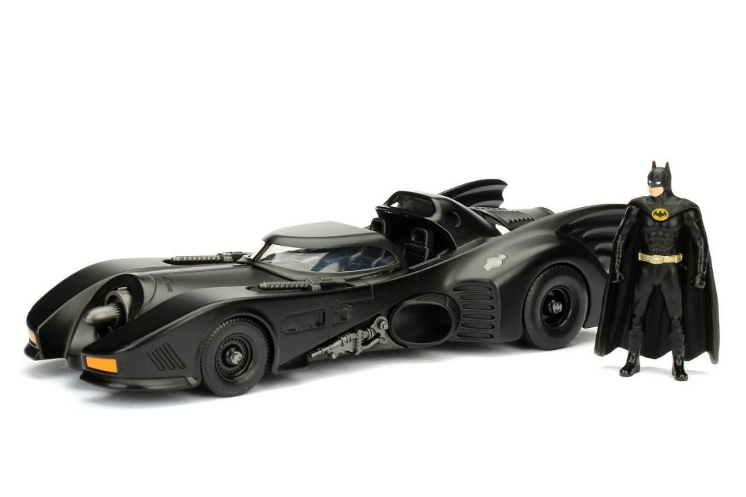 "Jada 1/24 ""Batman"" Batmobile w/ Batman Figure - 1989"