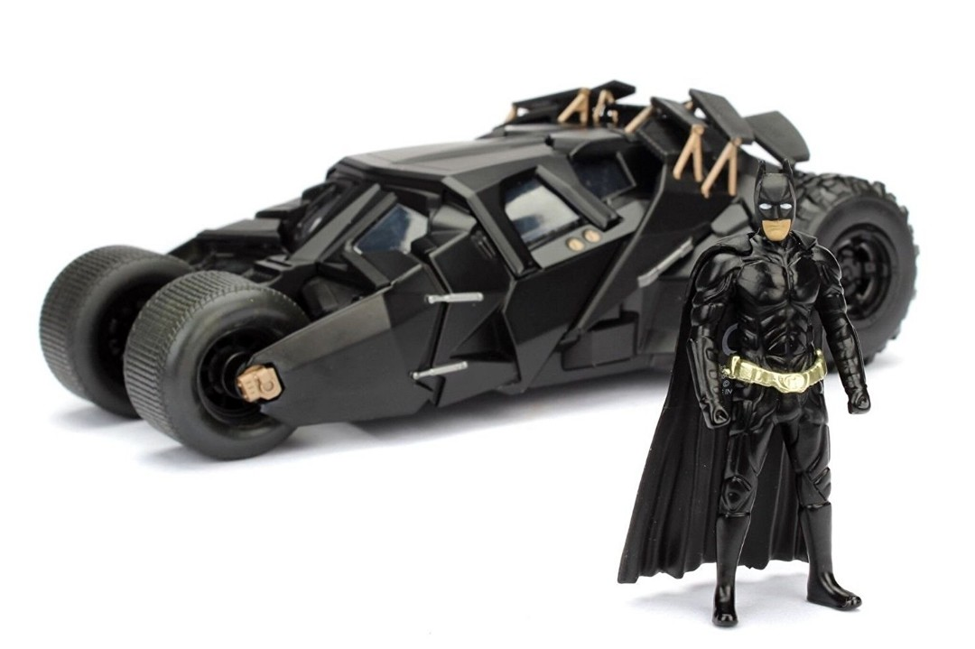 "Jada 1/24 ""The Dark Knight"" Batmobile w/ Batman Figure - 2008"