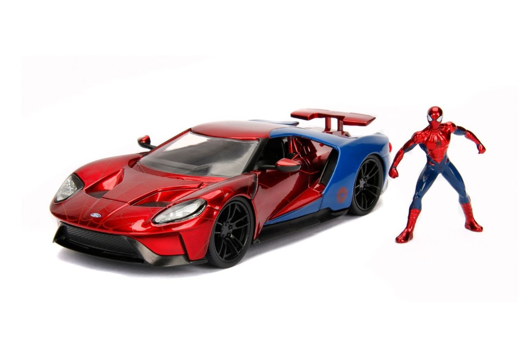 "Jada 1/24 ""Hollywood Rides"" 2017 Ford GT w/ Spider-Man"