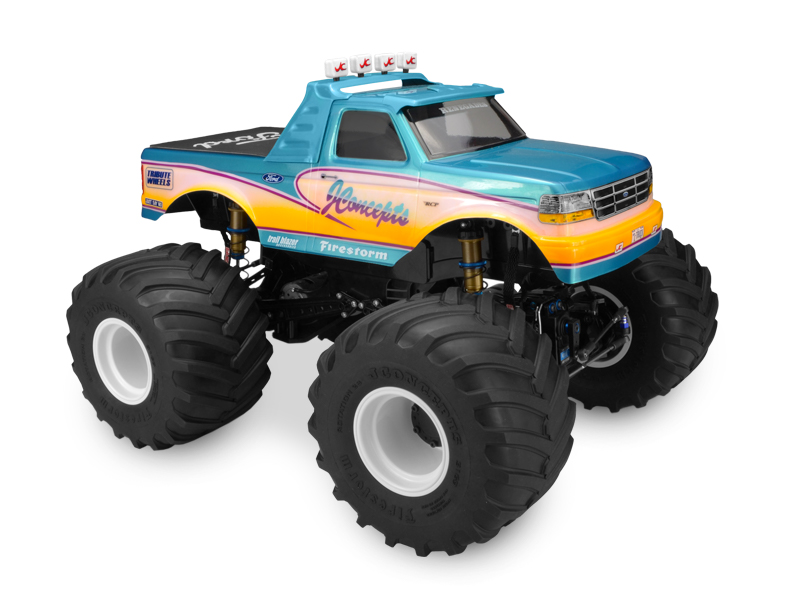 JConcepts 1993 Ford F-250 monster truck body w/racerback and visor (Fits - 7