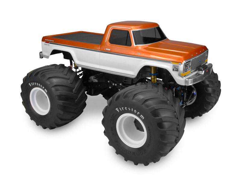 JConcepts 1979 Ford F-250 monster truck body w/bumpers - (7
