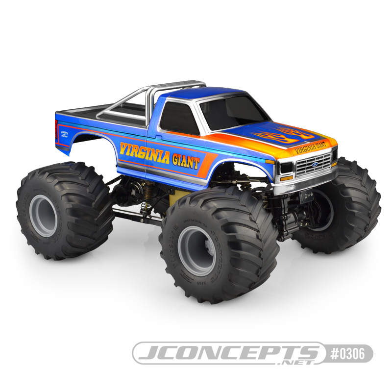 JConcepts 1984 Ford F-250 - MT | Scale body (Fits - Pro Mod 1/0th Monster Truck) (Dimensions - 7.25