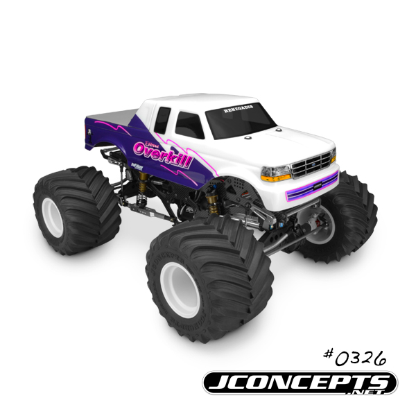JConcepts 1993 Ford F-250 super cab monster truck body w/racerback