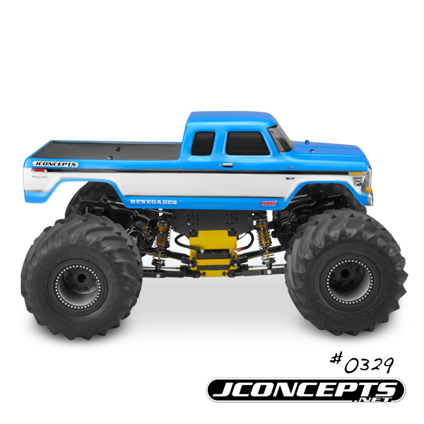 JConcepts 1979 Ford F-250 SuperCab Monster Truck Body w/Bumpers - (7