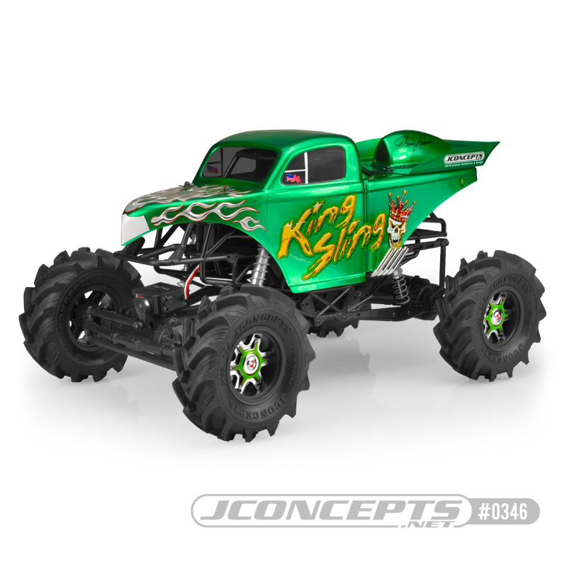 JConcepts King Sling - Mega Truck body w/ scoop & spoiler (Fits - Axial SMT10 - 7