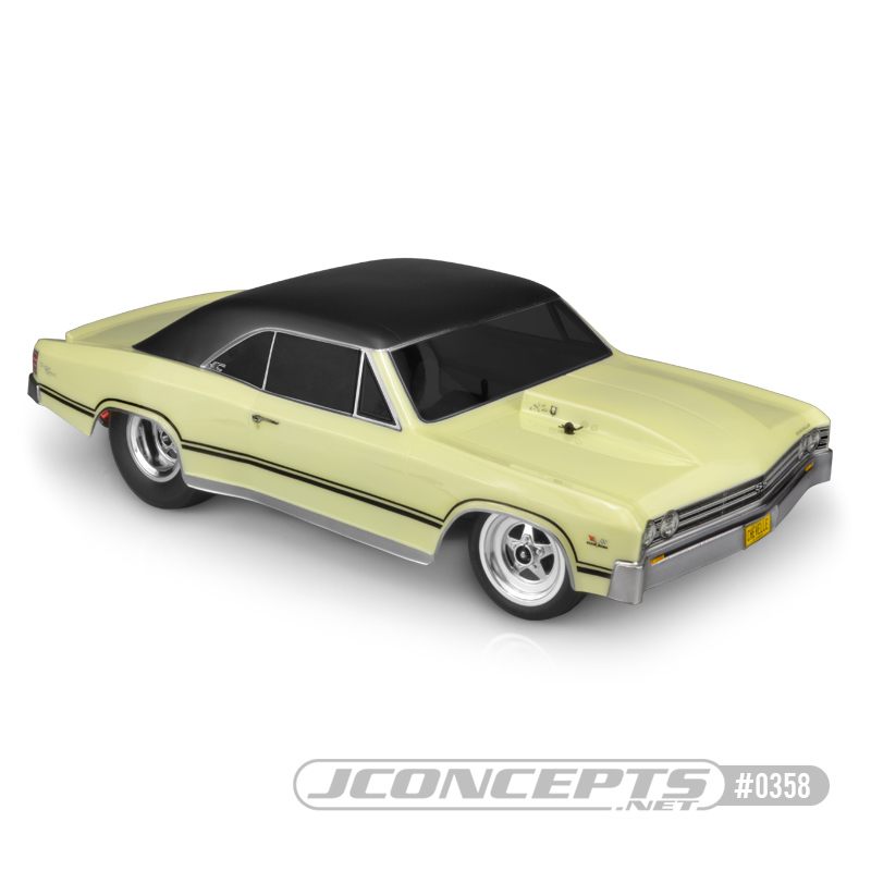 "JConcepts 1967 Chevy Chevelle - 10.75"" width & 13"" wheelbase"