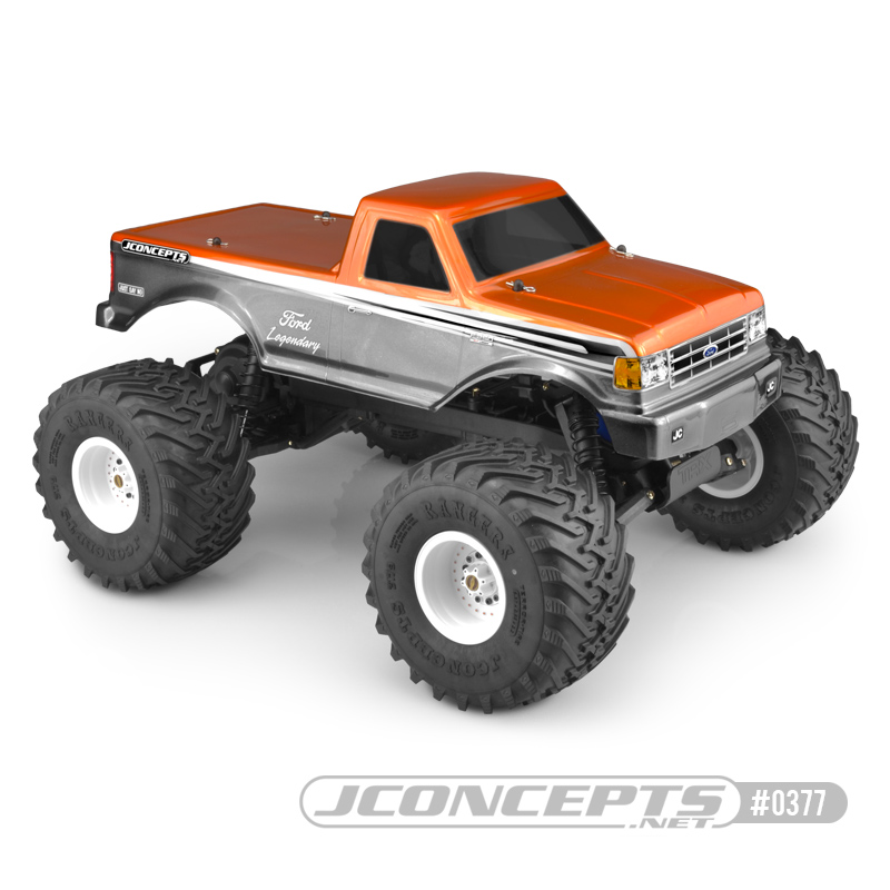 JConcepts 1989 Ford F-250 Traxxas Stampede body w/racerback