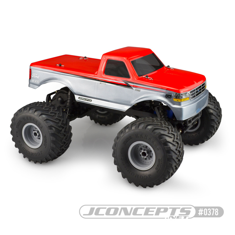 JConcepts 1993 Ford F-250 Traxxas Stampede body w/racerback and sun visor