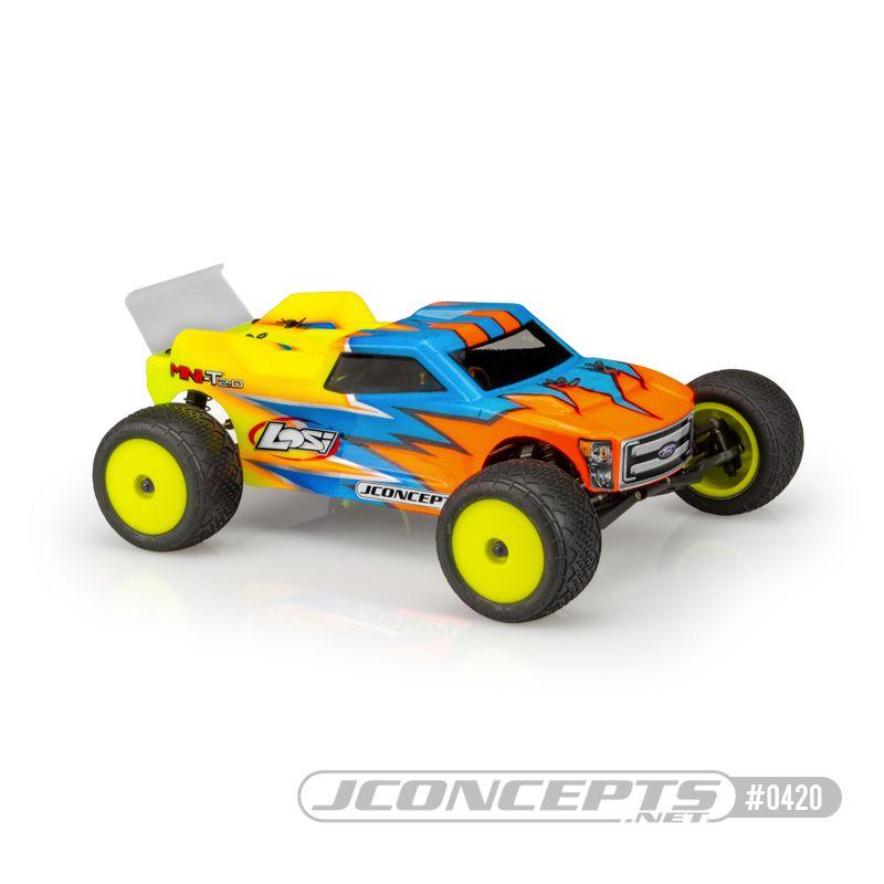 JConcepts Finnisher - Mini-T 2.0 body w/ rear spoiler