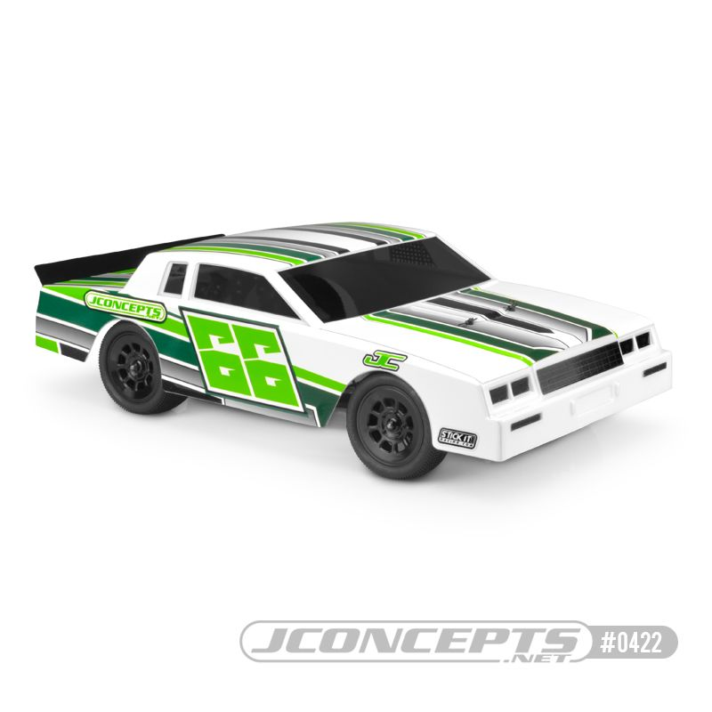 JConcepts 1987 Chevy Monte Carlo - Street Stock body - lightweight (Fits - 10.00