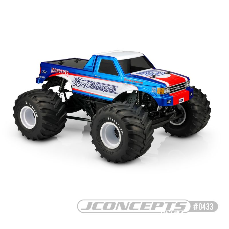 JConcepts 1989 Ford F-250 monster truck body w/ racerback (Fits - 7
