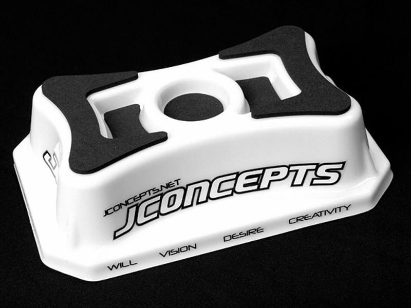 JConcepts Car Stand (1/10th on-road, molded polycarbonate)