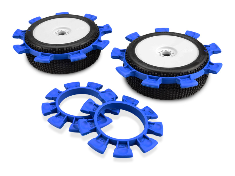 JConcepts Satellite tire gluing rubber bands - blue - fits 1/10th, SCT and 1/8th buggy