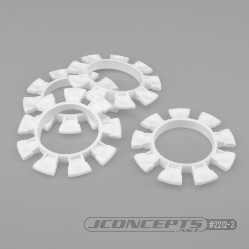 JConcepts Satellite tire gluing rubber bands - white - fits 1/10th, SCT and 1/8th buggy