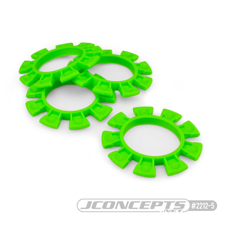 JConcepts Satellite tire gluing rubber bands - green - fits 1/10th, SCT and 1/8th buggy