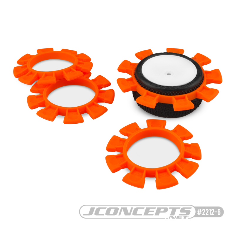 JConcepts Satellite tire gluing rubber bands - orange - fits 1/10th, SCT and 1/8th buggy