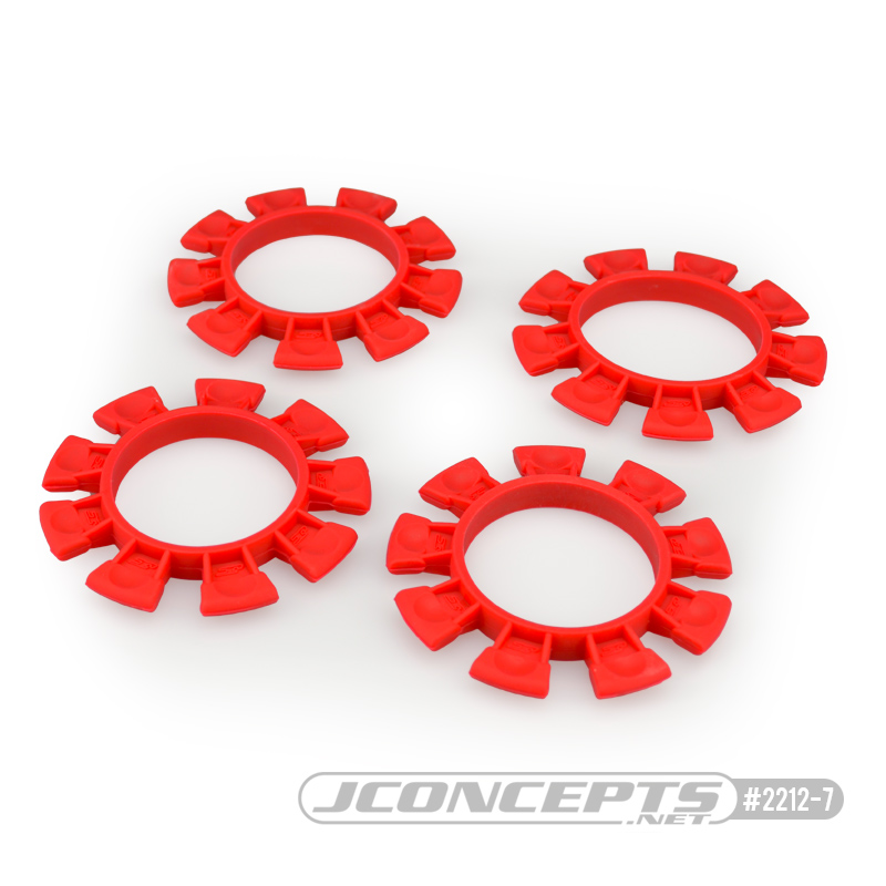 JConcepts Satellite tire gluing rubber bands - Red - fits 1/10th, SCT and 1/8th buggy
